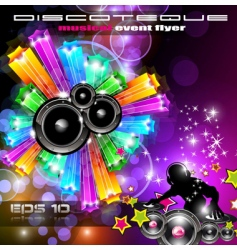 Magical discotheque vector