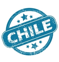 Chile round stamp vector