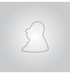 Full face fat man icon sign and button vector image