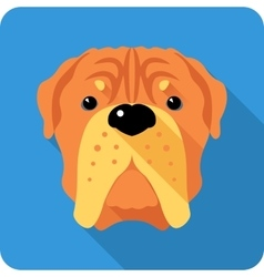 Dog french mastiff icon flat design vector