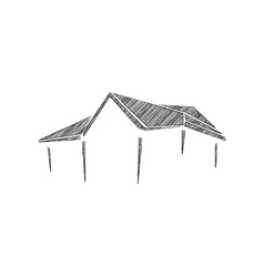Sketches of building vector
