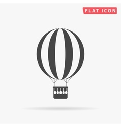 air balloon simple flat icon vector image