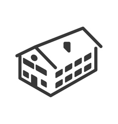 House icon building design graphic vector