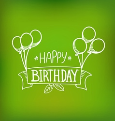 Hand-drawn greeting card happy birthday vector
