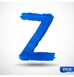 Alphabet letter z watercolor alphabet vector