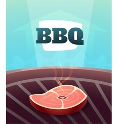 Barbecue BBQ Party invitation card vector image