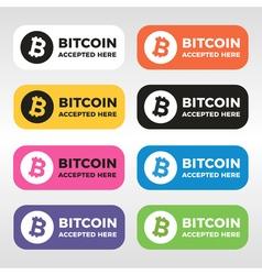 Bitcoin logo vector image