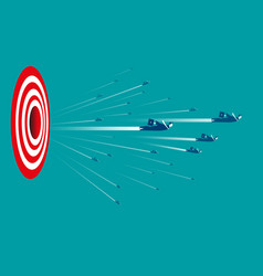 Business people with target sign vector