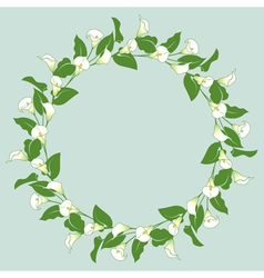 Calla wreath vector