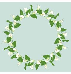 Calla wreath vector