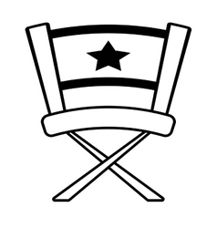 Chair star director film outline vector