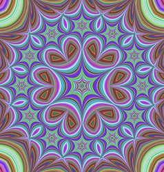 Colorful kaleidoscope star fractal background vector