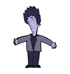 Comic cartoon vampire man vector
