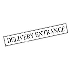 Delivery entrance rubber stamp vector