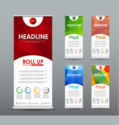 Design roll up banner for business and vector