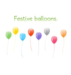 Festive balloons vector