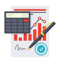 Financial statement concept vector