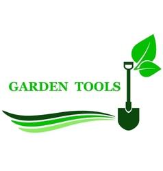 garden tool background vector image vector image