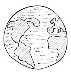 Globe icon hand drawn style vector