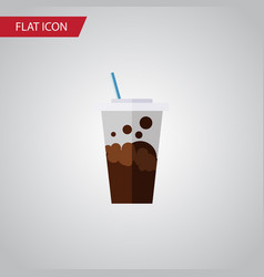 isolated soda flat icon carbonated element vector image
