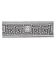 Meander is a decorative border vintage engraving vector