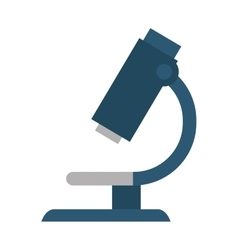 Microscope science isolated icon vector