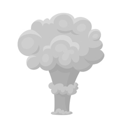 Nuclear explosion icon in monochrome style vector image vector image