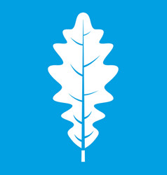Oak leaf icon white vector