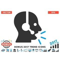 Operator message flat icon with 2017 bonus trend vector