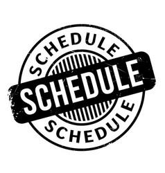 Schedule rubber stamp vector