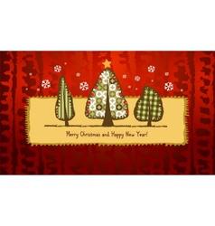 Scrapbook christmas greeting card vector