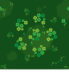 Seamless pattern clover on the meadow vector image