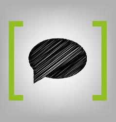 Speech bubble icon black scribble icon in vector
