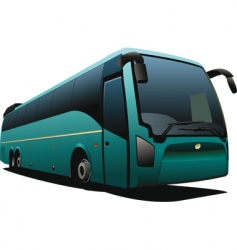 tourist coach vector image vector image