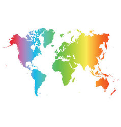 World map colored vector image