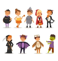 Halloween costume kids vector