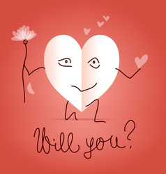 Will you be my valentine vector image