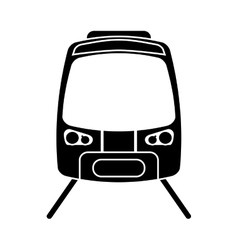 Silhouette high speed train passenger rail road vector