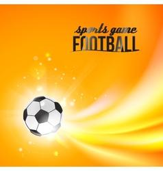 Shining soccer-ball on an orange background vector image