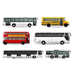 bus realistic set vector image