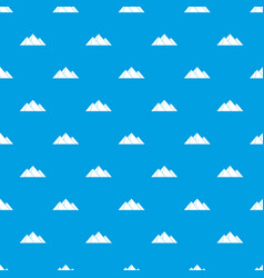 pyramids pattern seamless blue vector image