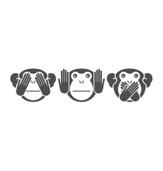 monkey background vector image