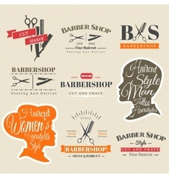 Barbershop signs vector