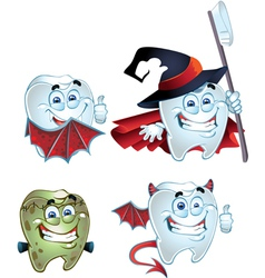 Fun halloween tooth vector