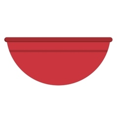 Plastic bowl icon vector