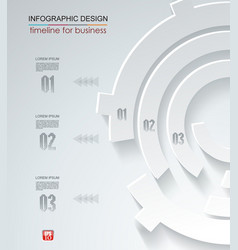 Abstract white paper circle infographics with vector