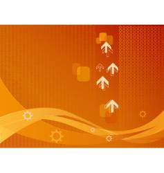 background of arrows and wave vector image vector image