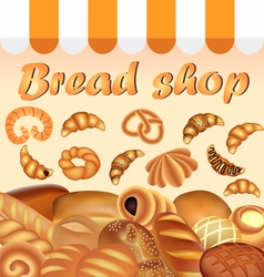 Background store of bread and baking fresh vector