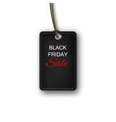 Black Friday sales tag Label vector image