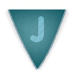 Bunting flag letter j vector